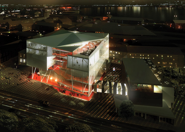 kristiansund opera house - project developed at BrisacGonzalez - image produced by Luxigon